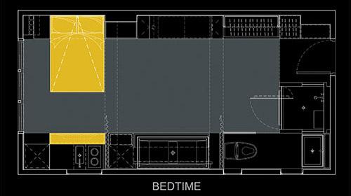 Дольше всего архитектор разрабатывал планировку последнего варианта квартиры