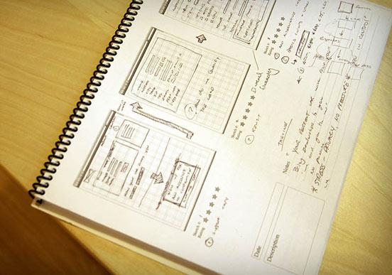 Блокнот для вебдизайнера или вебразработчика