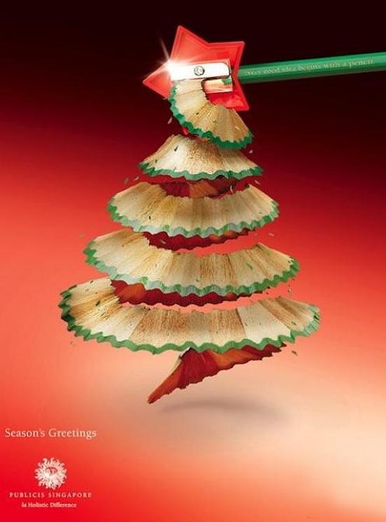 новогодняя реклама, елки