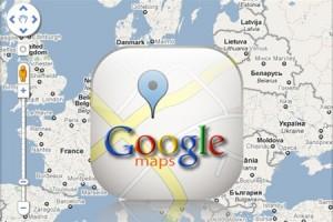 Google Maps: реклама на странице поиска